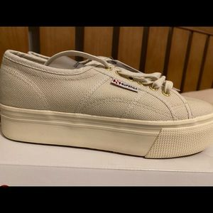Brand new Superga Shoes (platform)
